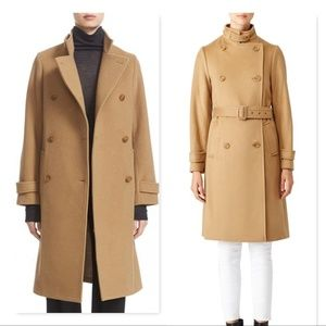 Vince Stand Collar trench coat jacket wool cashmer